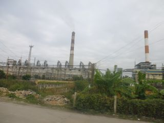 An old coal power station outside Hanoi