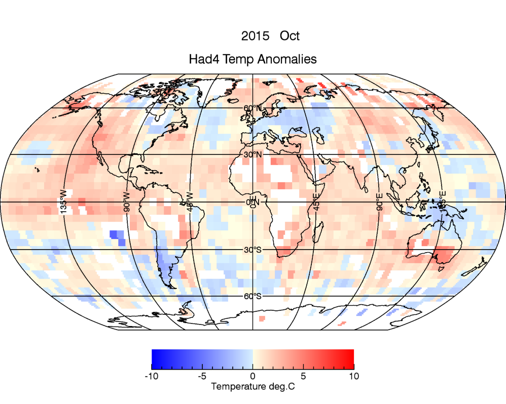 H4 Temperature anomalies for October 2015 using new temperature colour scale.
